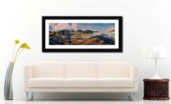 Crinkle Crags from Great Langdale - Framed Print with Mount on Wall