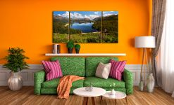 Summer at Grasmere - 3 Panel Wide Centre Canvas on Wall