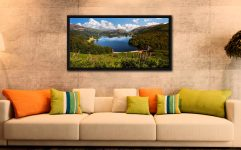 Summer at Grasmere - Black oak floater frame with acrylic glazing on Wall