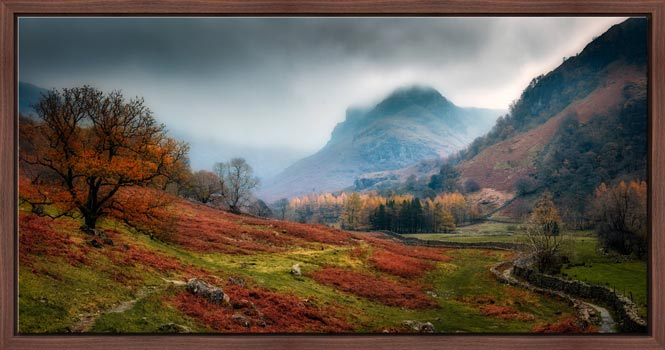 Dark Autumn at Eagle Crag - Modern Print