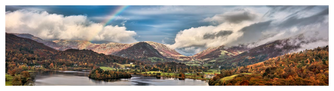 Grasmere Rainbow - Lake District Print