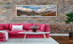 Grasmere Rainbow - White Maple floater frame with acrylic glazing on Wall