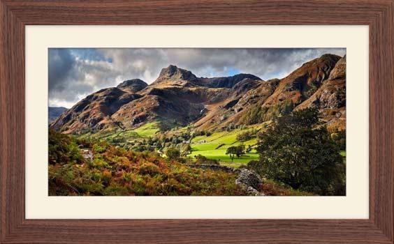 Cumbrian Way Langdale - Framed Print