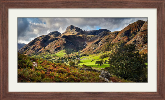 Cumbrian Way Langdale - Framed Print