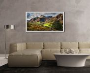 Cumbrian Way Langdale - White Maple floater frame with acrylic glazing on Wall