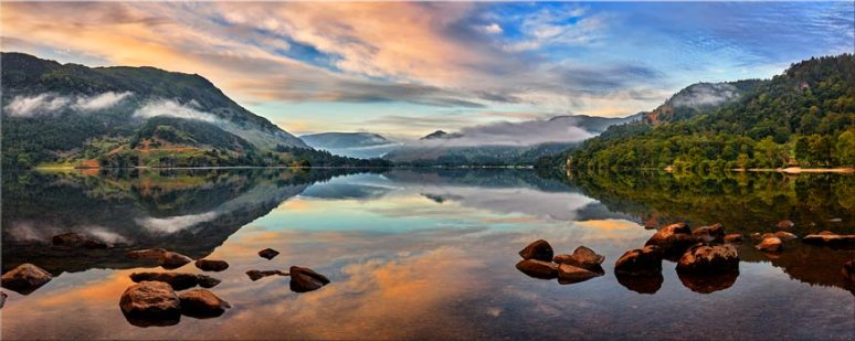 Ullswater Morning Mists - Lake District Canvas