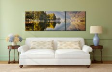 Hazy Days at Buttermere - 3 Panel Canvas on Wall