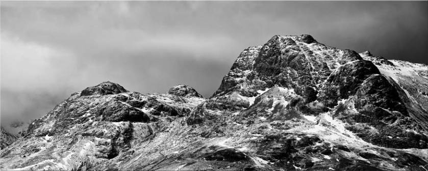 Snow on the Langdale Pikes - Lake District Canvas