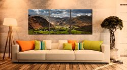 Borrowdale Pastures - 3 Panel Canvas on Wall