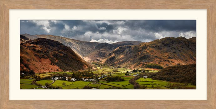 Borrowdale Pastures - Framed Print