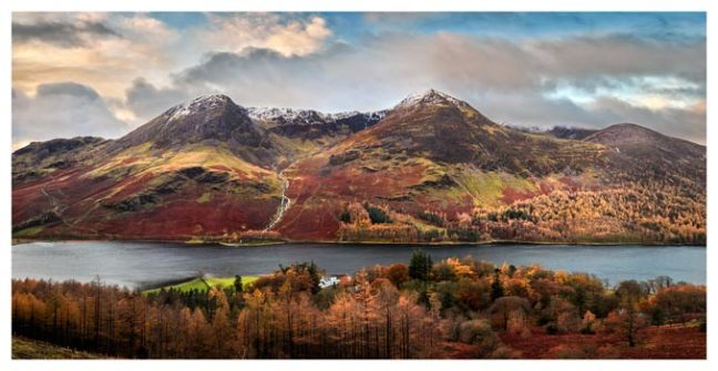 High Stile High Crag in Autumn - Lake District Print