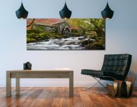Borrowdale Mill Panorama - 3 Panel Wide Mid Canvas on Wall