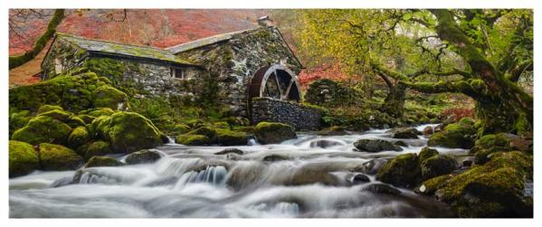 Borrowdale Mill Panorama - Lake District Print