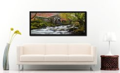 The old watermill near Stonethwaite in Borrowdale - Black oak floater frame with acrylic glazing on Wall