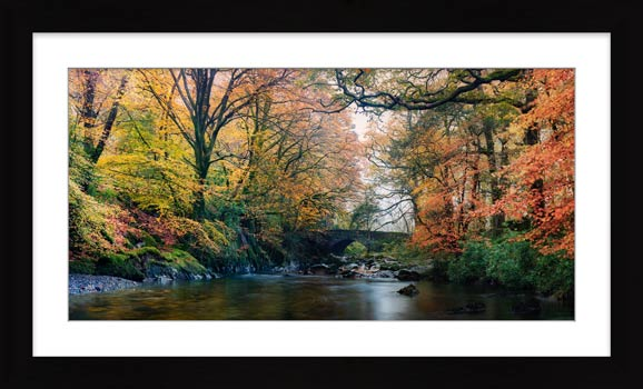 River Esk Bridge in Autumn - Framed Print
