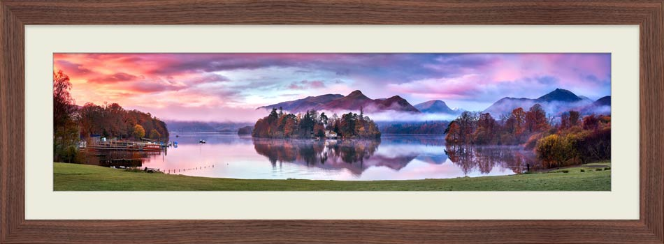 Derwent Water Sunrise - Framed Print