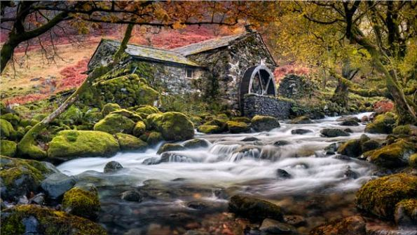 Borrowdale Mill - Lake District Canvas