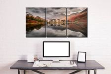 Grey Skies Over Buttermere - 3 Panel Canvas on Wall