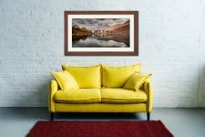 Grey Skies Over Buttermere - Framed Print with Mount on Wall