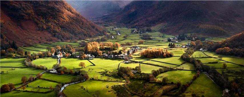 Autumn Colours of Borrowdale - Lake District Canvas