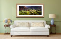 Autumn Colours of Borrowdale - Framed Print with Mount on Wall
