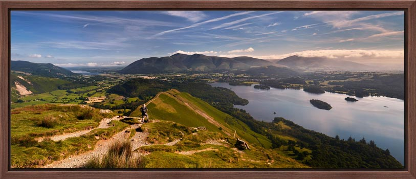 Cat Bells Panoramic View - Modern Print
