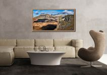 Eskdale Needle and Scafell Mountains - Oak floater frame with acrylic glazing on Wall