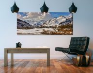 Snow on the Mountains of Langdale - Canvas Print on Wall