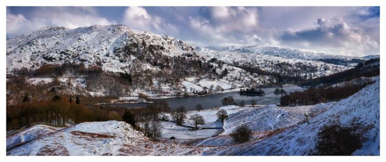 Rydal Water Winter - Lake District Print