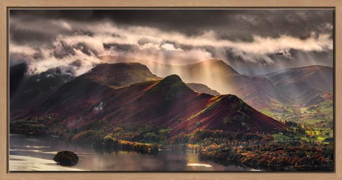 Sunshine and Showers on Cat Bells - Modern Print