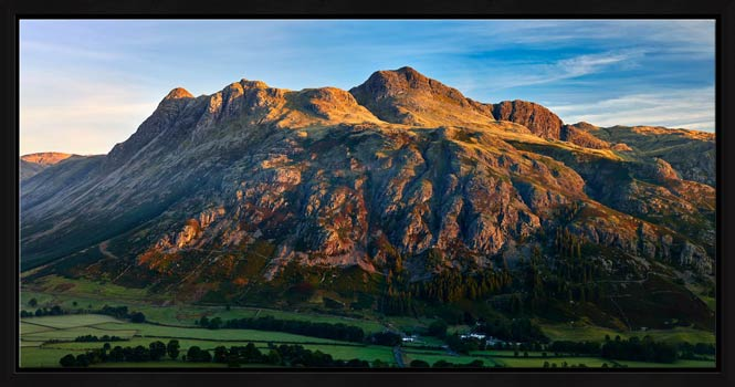 The Langdale Pikes in the Morning Light - Modern Print