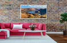 Ullswater From Harrison Crag - White Maple floater frame with acrylic glazing on Wall