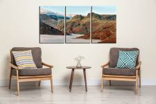 Golden Langdale Pikes - 3 Panel Canvas on Wall