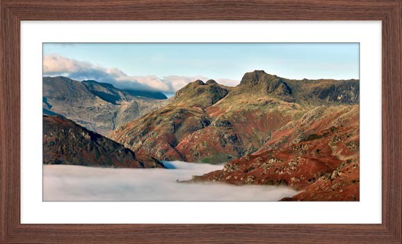 Golden Langdale Pikes - Framed Print with Mount
