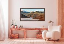 Golden Langdale Pikes - Walnut floater frame with acrylic glazing on Wall