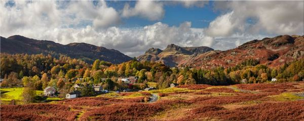Elterwater Village - Canvas Print