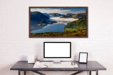 Glenridding Under the Clouds - Walnut floater frame with acrylic glazing on Wall