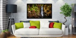 Stanley Ghyll Force Gorge - Black oak floater frame with acrylic glazing on Wall