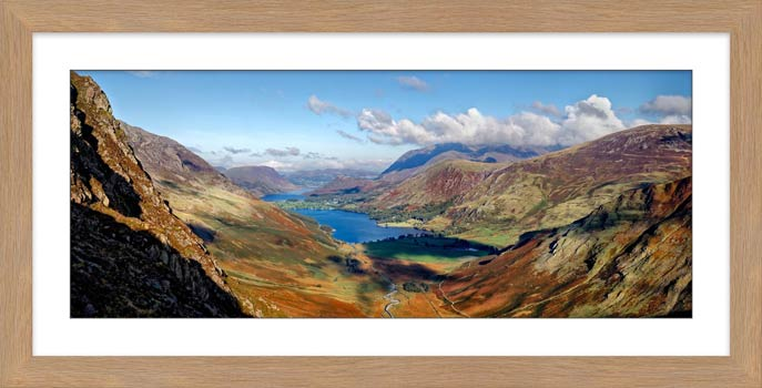 Buttermere Valley Green Crag - Framed Print with Mount