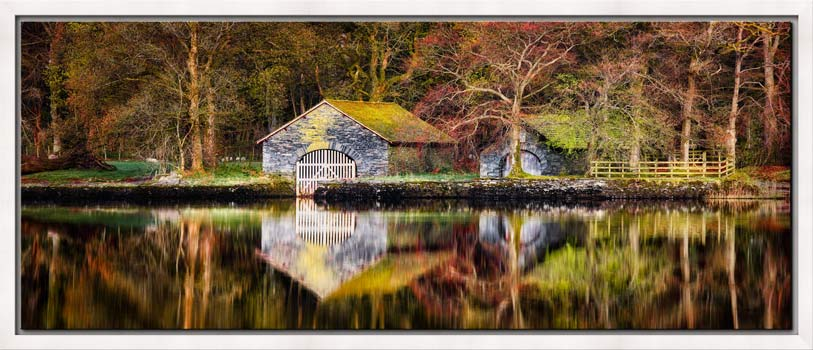 Coniston Boathouse Reflections - Modern Print