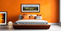 Helvellyn to St Sunday Crag - Framed Print with Mount on Wall
