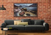 Wast Water Middle Earth - Walnut floater frame with acrylic glazing on Wall