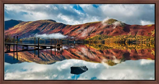 Late Autumn at Ashness Jetty - Modern Print