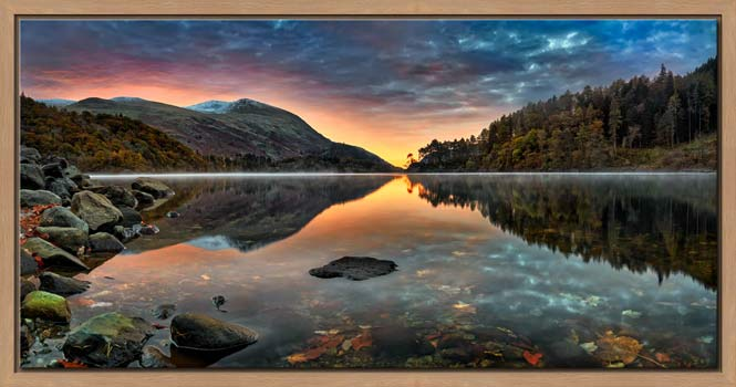 Thirlmere Autumn Dawn - Modern Print