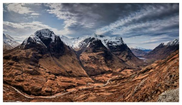 Winter Colours of Three Sisters - Scotland Print