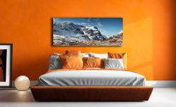 The Three Sisters of Glencoe under a blanket of snow - Print Aluminium Backing With Acrylic Glazing on Wall