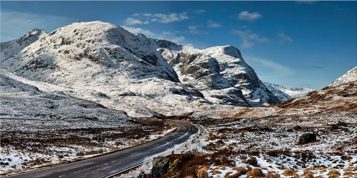Road Through Glencoe - Canvas Print