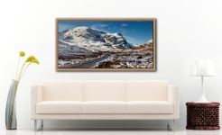 Road Through Glencoe - Oak floater frame with acrylic glazing on Wall