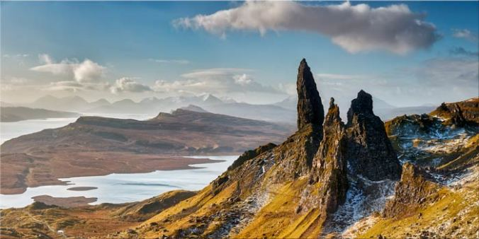 Old Man of Storr and Cuillins - Canvas Print
