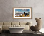 Old Man of Storr and Cuillins - Framed Print with Mount on Wall